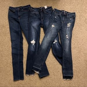 3 Hollister jeans size 1